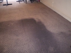 restaurant carpet before cleaning and after cleaning