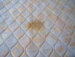 Mattress with stain prior to cleaning